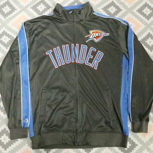 RARE NBA Oklahoma Thunder Full Zip Trainer Jacket